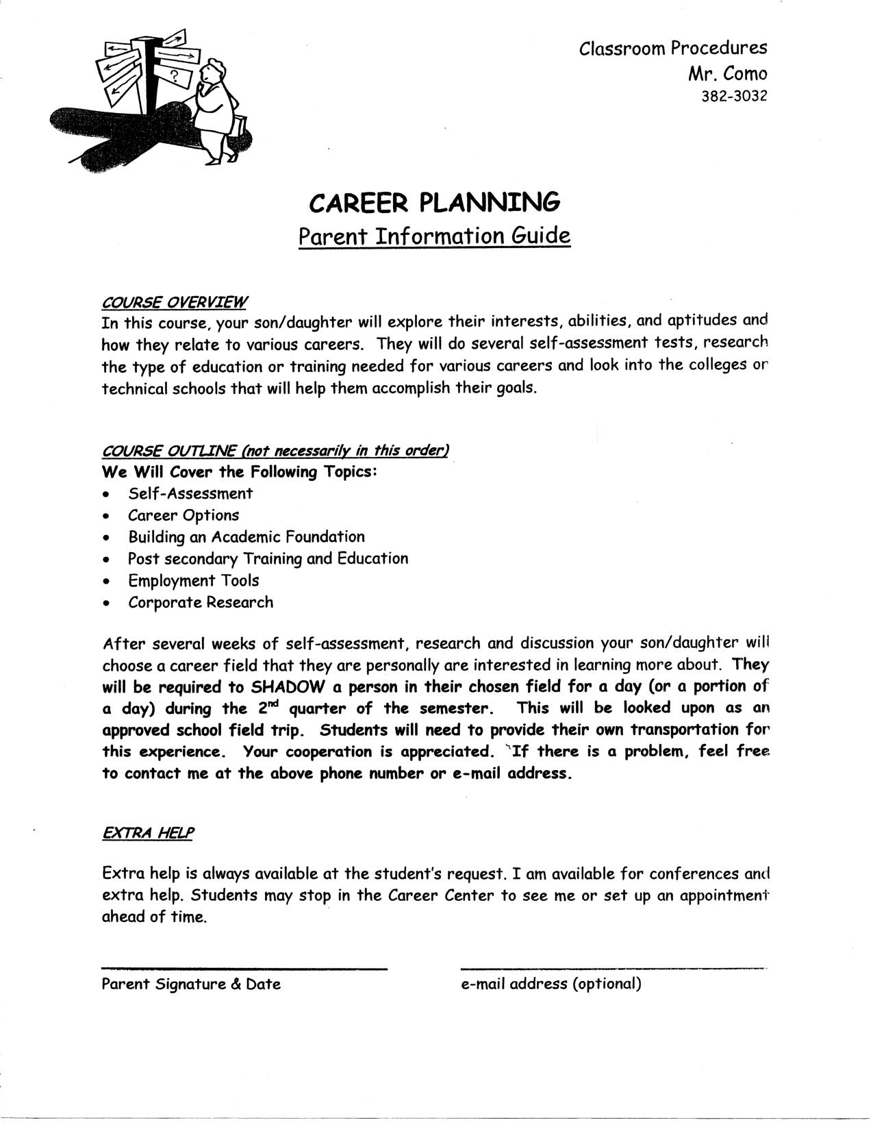 career planning course outline mr como s career planning blog like this
